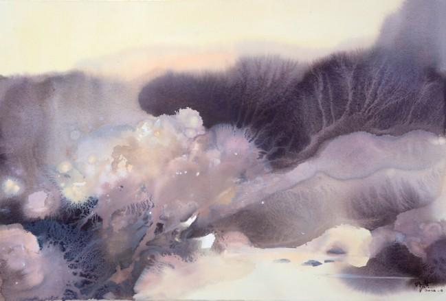 《梦幻》获《2007长沙市首届水彩水粉画展》银奖 起舞翩跹见禅意,流光